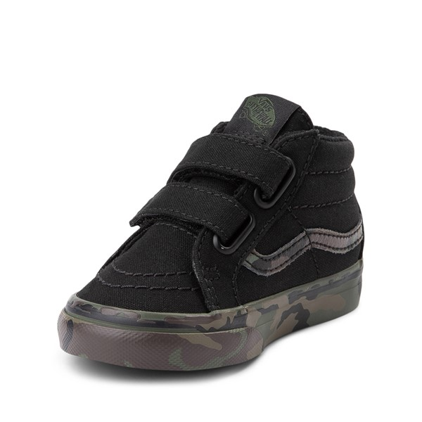 alternate image alternate view Vans Sk8 Mid Reissue V Skate Shoe - Baby / Toddler - Black / CamoALT2