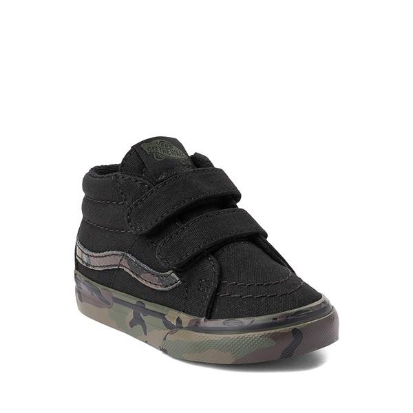 alternate image alternate view Vans Sk8 Mid Reissue V Skate Shoe - Baby / Toddler - Black / CamoALT5