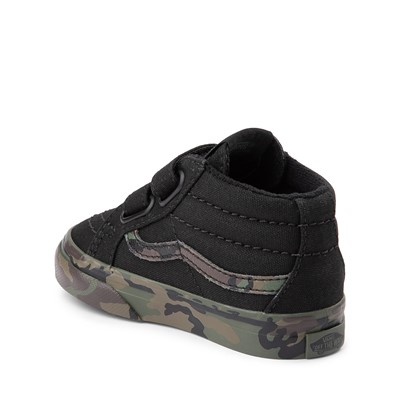 Alternate view of Vans Sk8 Mid Reissue V Skate Shoe - Baby / Toddler - Black / Camo