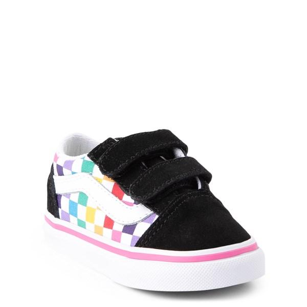 alternate image alternate view Vans Old Skool Checkerboard Skate Shoe - Baby / ToddlerALT1
