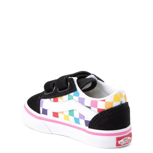 alternate image alternate view Vans Old Skool Checkerboard Skate Shoe - Baby / ToddlerALT2