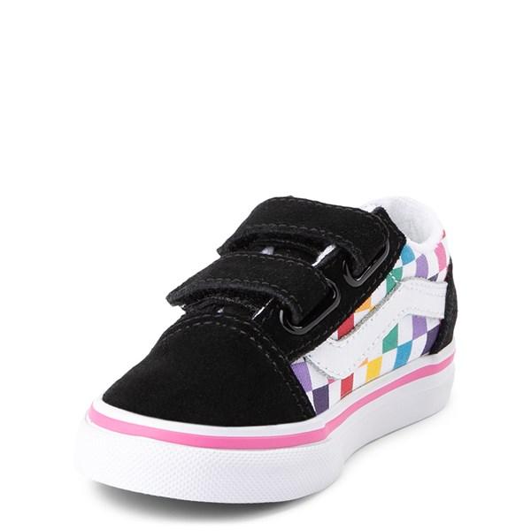 alternate image alternate view Vans Old Skool Checkerboard Skate Shoe - Baby / ToddlerALT3