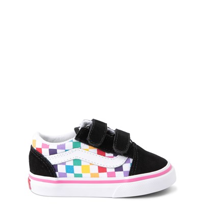 Main view of Vans Old Skool Checkerboard Skate Shoe - Baby / Toddler