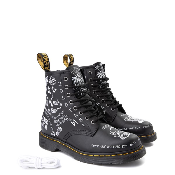 alternate image alternate view Dr. Martens 1460 8-Eye Scribble BootALT1