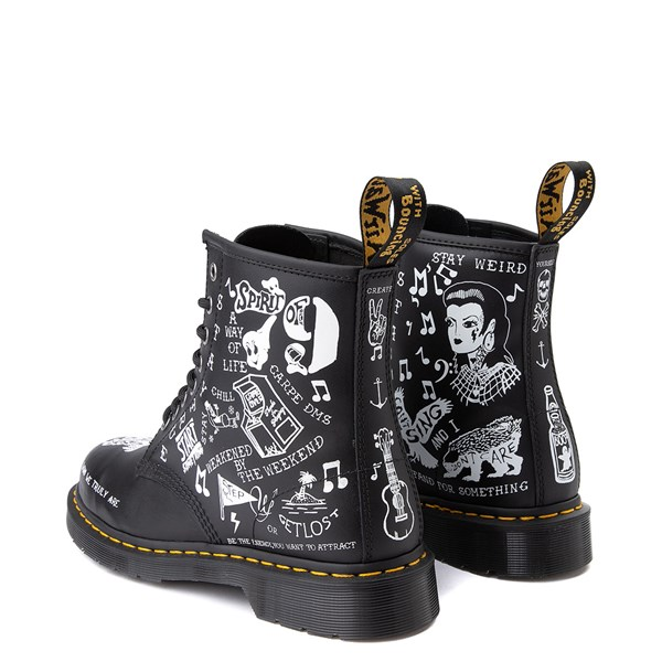 alternate image alternate view Dr. Martens 1460 8-Eye Scribble BootALT2