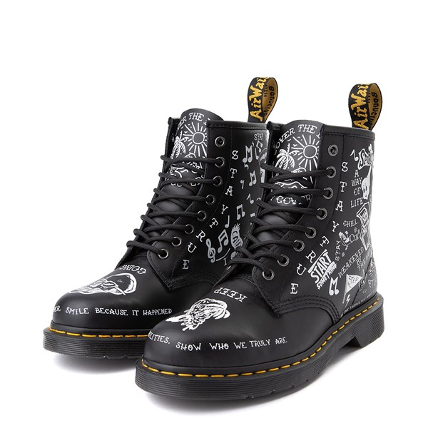 alternate image alternate view Dr. Martens 1460 8-Eye Scribble BootALT3