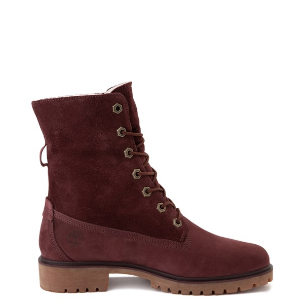 alternate image alternate view Womens Timberland Jayne Fleece Boot - BurgundyALT1