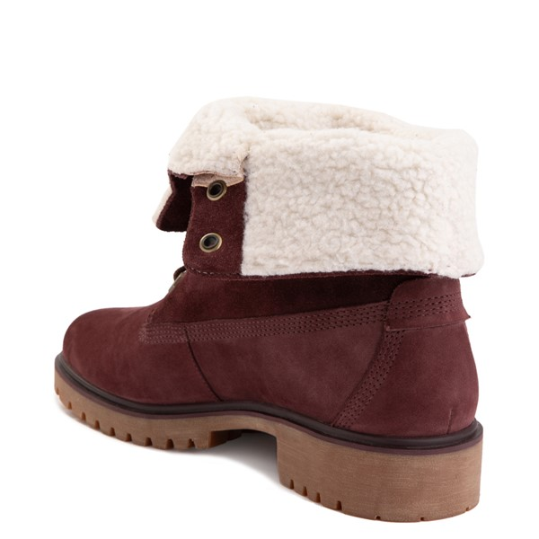 alternate image alternate view Womens Timberland Jayne Fleece Boot - BurgundyALT1B