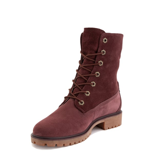alternate image alternate view Womens Timberland Jayne Fleece Boot - BurgundyALT2