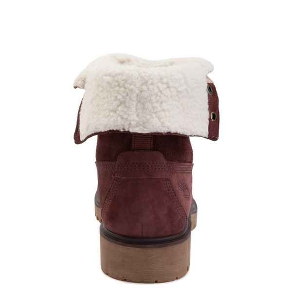 alternate image alternate view Womens Timberland Jayne Fleece Boot - BurgundyALT4