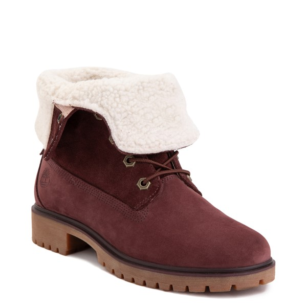 alternate image alternate view Womens Timberland Jayne Fleece Boot - BurgundyALT5
