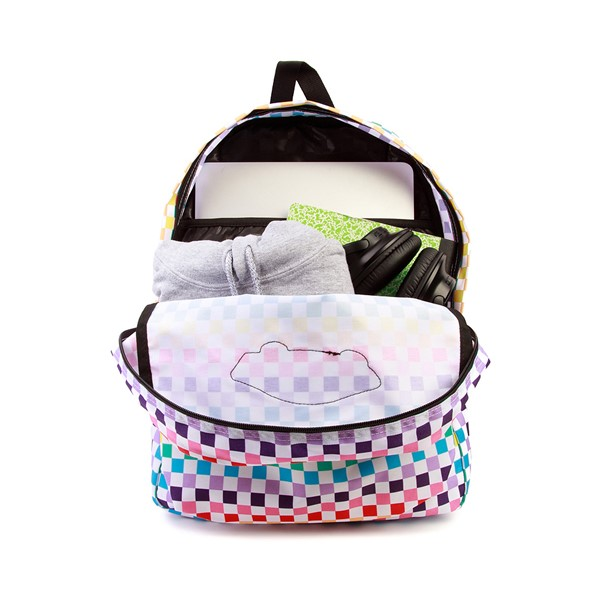 alternate image alternate view Vans Checkerboard Realm Backpack - RainbowALT1