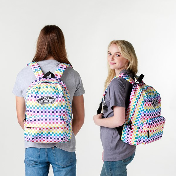 alternate image alternate view Vans Checkerboard Realm Backpack - RainbowALT1BADULT
