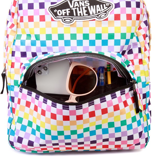 alternate image alternate view Vans Checkerboard Realm Backpack - RainbowALT3B