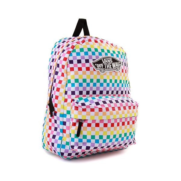 alternate image alternate view Vans Checkerboard Realm Backpack - RainbowALT4B