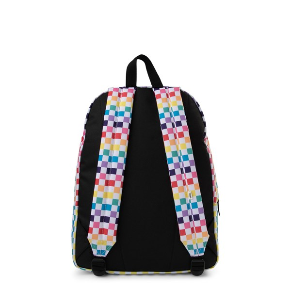 alternate image alternate view Vans Rainbow Check Realm BackpackALT1