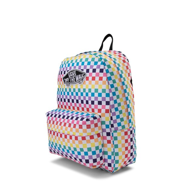 alternate image alternate view Vans Rainbow Check Realm BackpackALT2