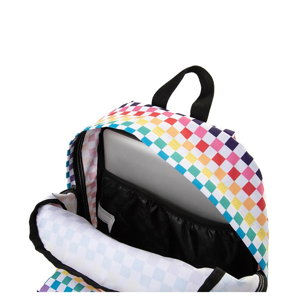 alternate image alternate view Vans Rainbow Check Realm BackpackALT3