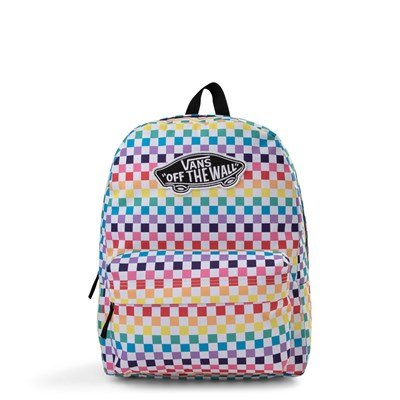 Main view of Vans Rainbow Check Realm Backpack