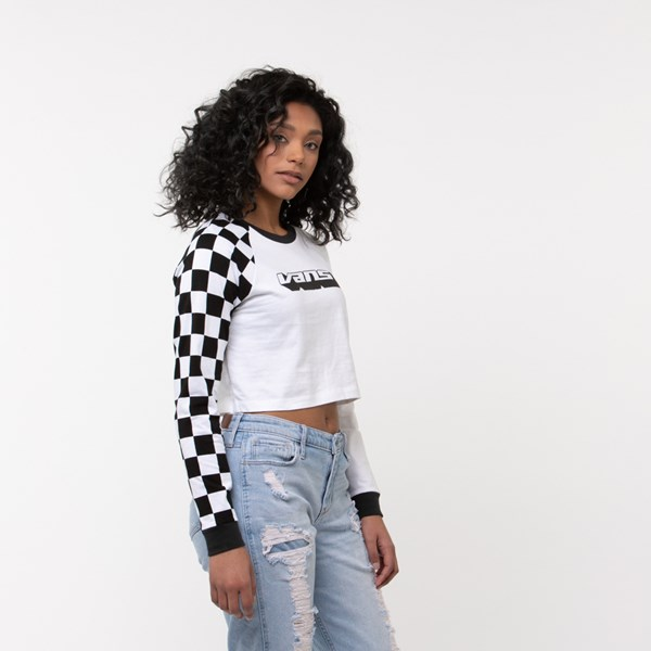 alternate image alternate view Womens Vans Speedcross Cropped Long Sleeve TeeALT3