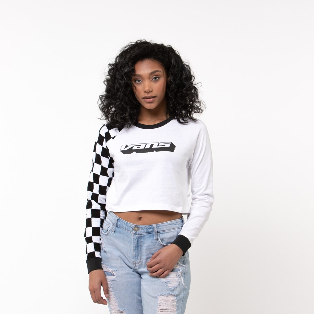 Womens Vans Speedcross Cropped Long Sleeve Tee