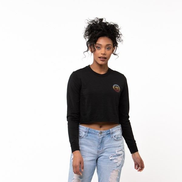 Womens Vans Wind It Cropped Long Sleeve Tee