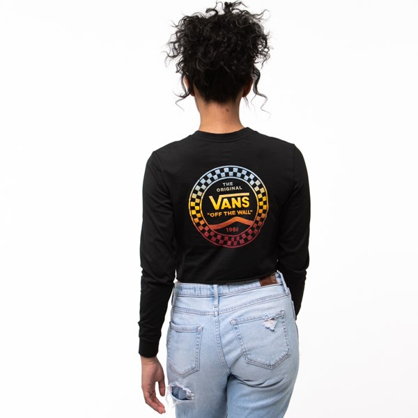 alternate image alternate view Womens Vans Wind It Cropped Long Sleeve TeeALT1