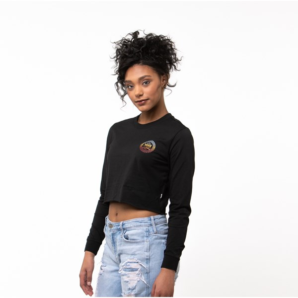 alternate image alternate view Womens Vans Wind It Cropped Long Sleeve TeeALT2