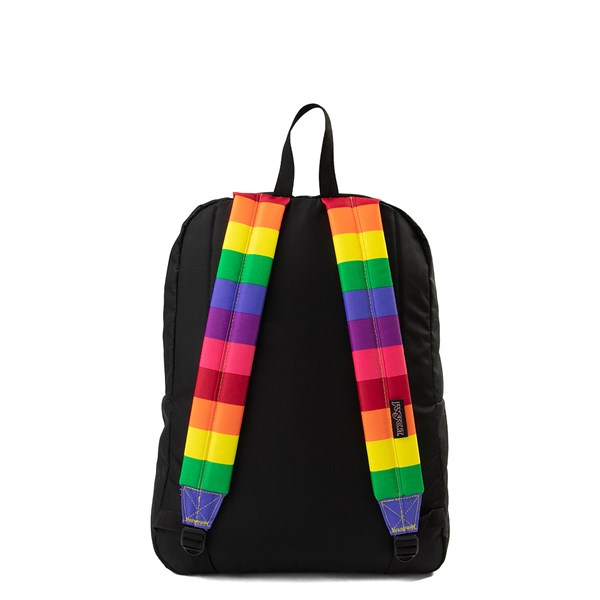 alternate image alternate view JanSport High Stakes Rainbow Dream BackpackALT1