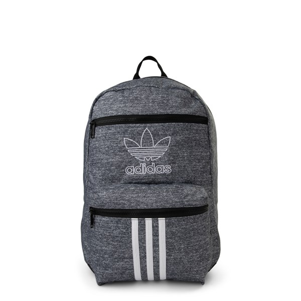 Main view of adidas National 3-Stripes Backpack - Heather Grey