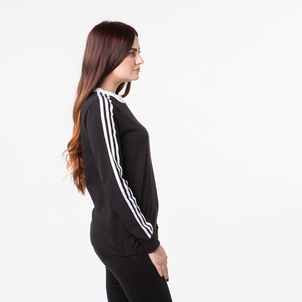 alternate image alternate view Womens adidas 3-Stripes Long Sleeve TeeALT3