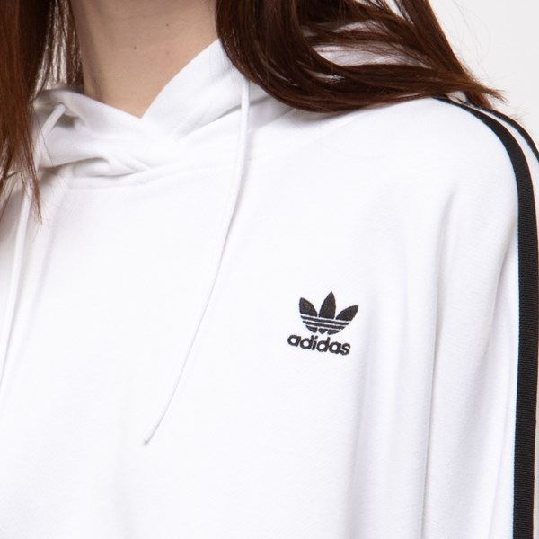 alternate image alternate view Womens adidas Originals 3-Stripes Cropped HoodieALT4