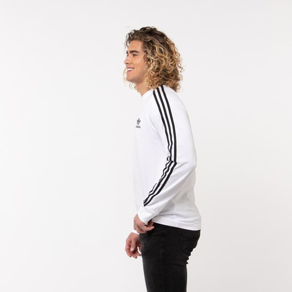 alternate image alternate view Mens adidas 3-Stripes Long Sleeve TeeALT2