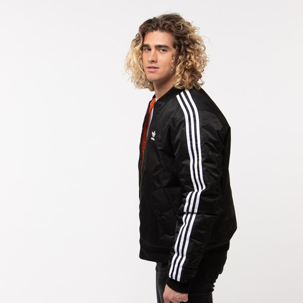 alternate image alternate view Mens adidas Originals 3-Stripes Padded Bomber JacketALT2