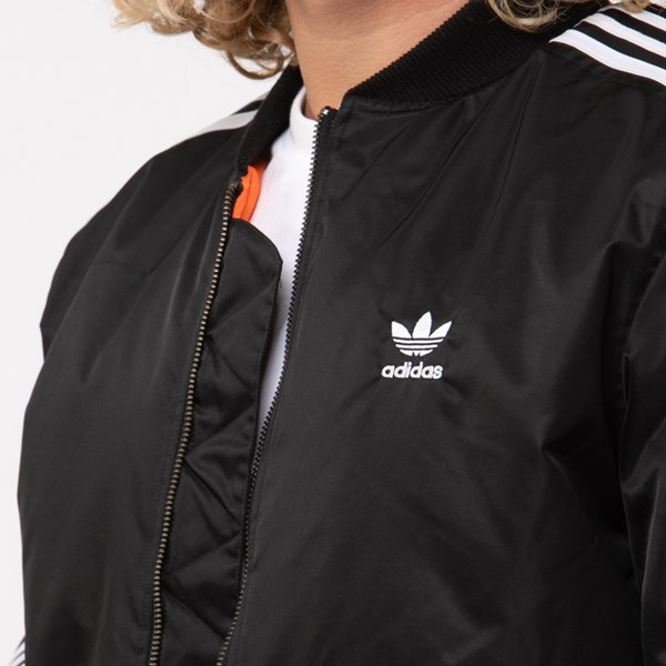 alternate image alternate view Mens adidas Originals 3-Stripes Padded Bomber JacketALT4