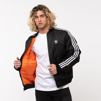 Alternate view of Mens adidas Originals 3-Stripes Padded Bomber Jacket