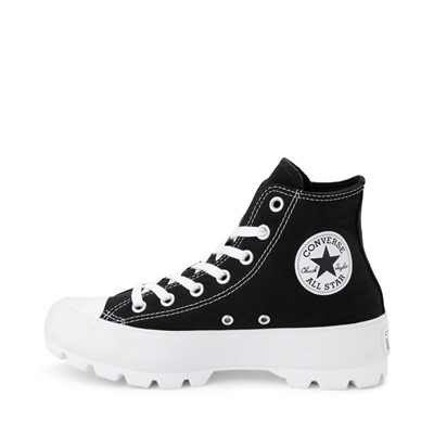 Alternate view of Womens Converse Chuck Taylor All Star Hi Lugged Sneaker - Black
