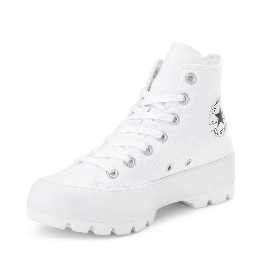 high top white converse womens
