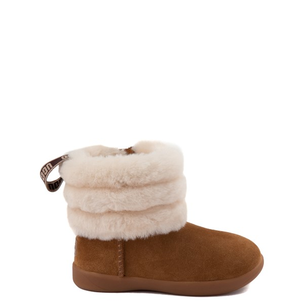Main view of UGG® Classic Mini Fluff Boot - Toddler / Little Kid - Chestnut