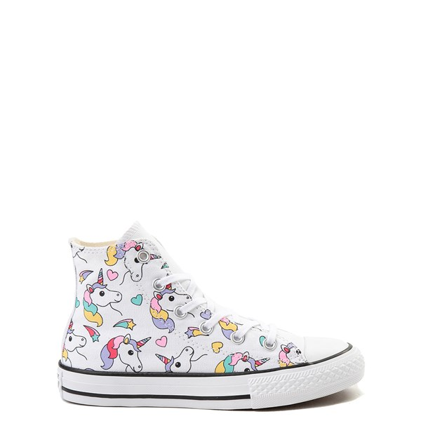 Converse Chuck Taylor All Star Unicorn Rainbow Hi Sneaker - Little Kid / Big Kid - White