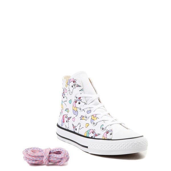 alternate image alternate view Converse Chuck Taylor All Star Unicorn Rainbow Hi Sneaker - Little Kid / Big KidALT1B
