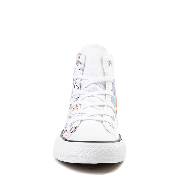 alternate image alternate view Converse Chuck Taylor All Star Unicorn Rainbow Hi Sneaker - Little Kid / Big KidALT4