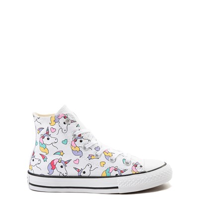 Main view of Converse Chuck Taylor All Star Unicorn Rainbow Hi Sneaker - Little Kid / Big Kid