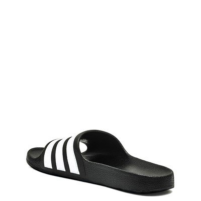 Alternate view of adidas Adilette Shower Slide Sandal - Little Kid / Big Kid - Black / White