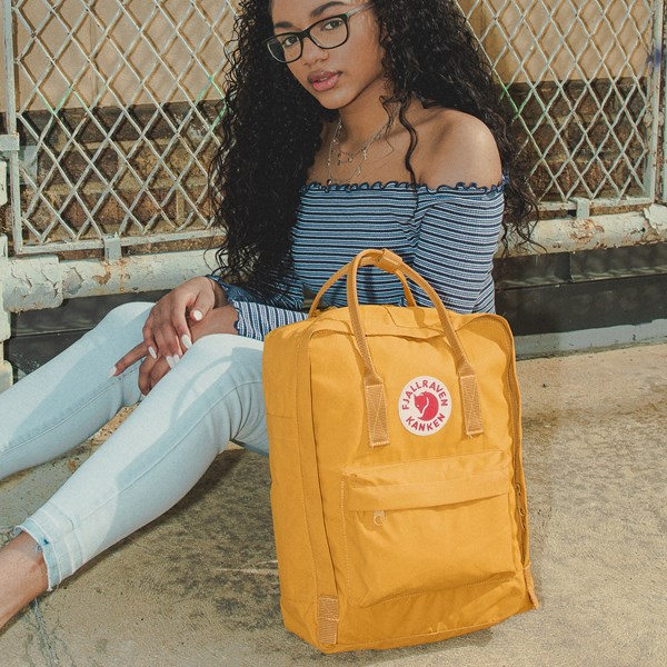 alternate image alternate view Fjallraven Kanken Backpack - YellowB-LIFESTYLE1