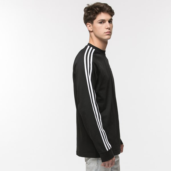 alternate image alternate view Mens adidas 3 Stripe Long Sleeve TeeALT3