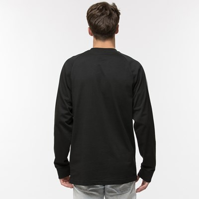 Alternate view of Mens adidas 3 Stripe Long Sleeve Tee - Black