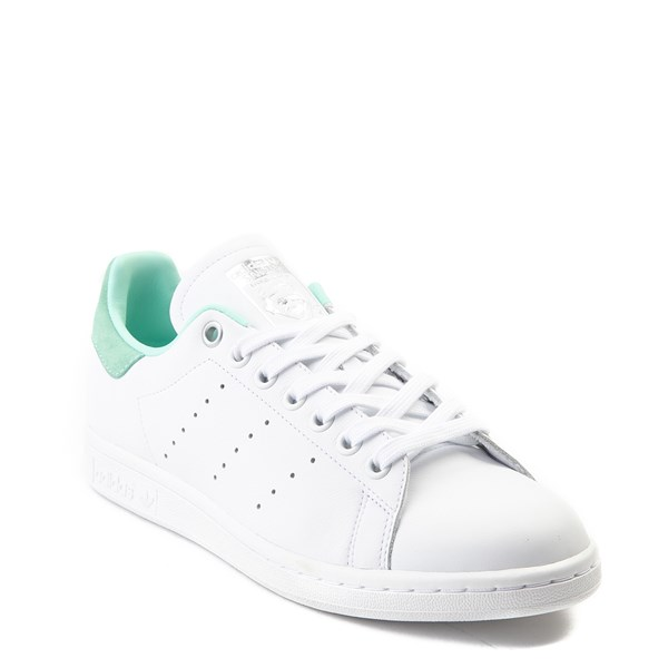 alternate image alternate view Womens adidas Stan Smith Athletic Shoe - White / Mint / SilverALT1