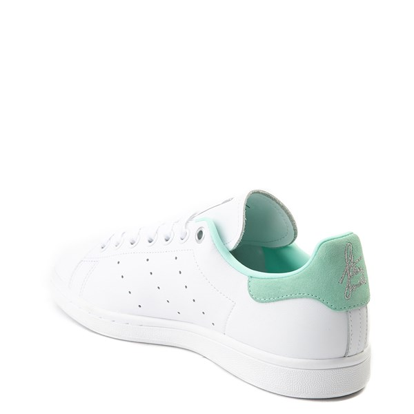 alternate image alternate view Womens adidas Stan Smith Athletic Shoe - White / Mint / SilverALT2