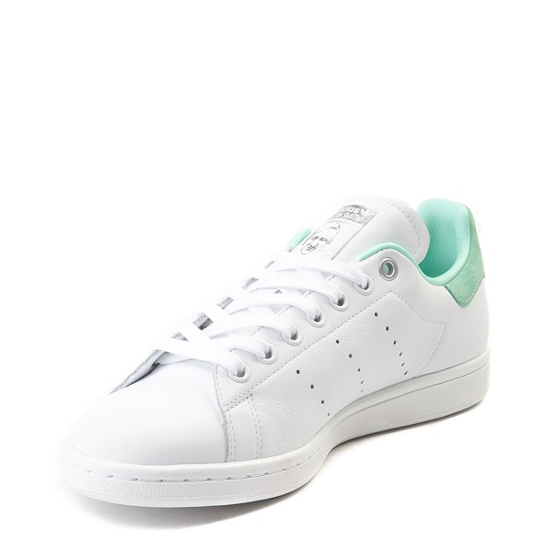 alternate image alternate view Womens adidas Stan Smith Athletic Shoe - White / Mint / SilverALT3